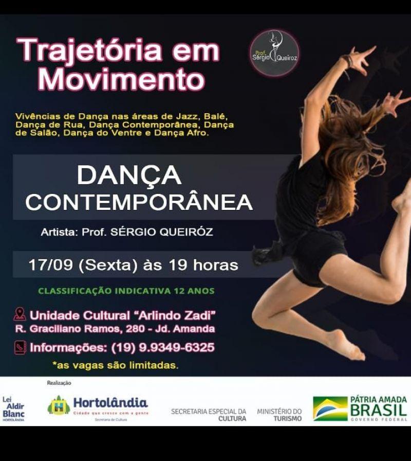 Ainda há vagas disponíveis para oficina gratuita de dança contemporânea