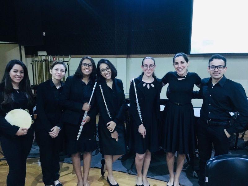 """Concerto gratuito do grupo de flautas e percussão """"Sopro de Prata"""" é nesta quarta-feira (29/09)"""
