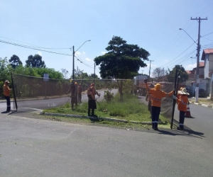 Mutirão de limpeza e poda do mato beneficia oito bairros da cidade
