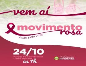 Movimento Rosa promete 'agitar' o Parque Chico Mendes no domingo (24/10)