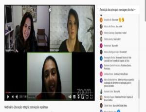 """Profissionais da Rede Municipal de Hortolândia participam do terceiro encontro Percurso de Webinários """"Educação na Rede"""""""