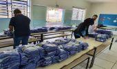 Prefeitura inicia entrega de uniformes escolares de inverno na próxima semana, com dia e hora marcados