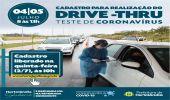 Cadastro para segundo drive-thru de testes rápidos será aberto nesta quinta-feira (02/07), às 10h