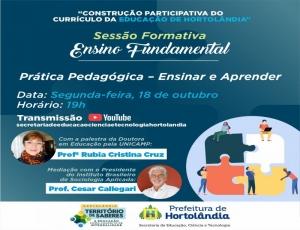 """""""Prática pedagógica"""" será debatida por profissionais da educação de Hortolândia nesta segunda-feira (18/10)"""